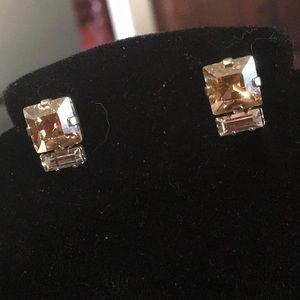 Sabika Crystal 2-Stone Studs
